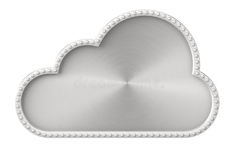 Conceito do Internet Nuvem de aço ilustração do vetor