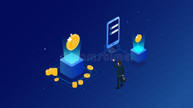 Conceito do investimento da gest?o financeira Pode usar-se para a bandeira da Web, infographics, imagens do her?i Vetor isom?tric ilustração stock