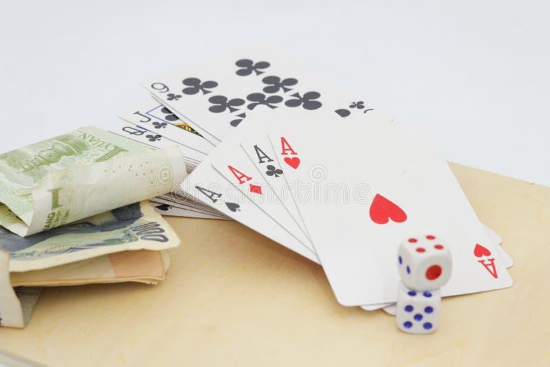 Conceito do jogo, da aposta e do apego imagem de stock