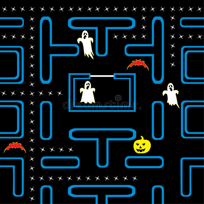 Conceito do jogo de arcada de Halloween ilustração do vetor