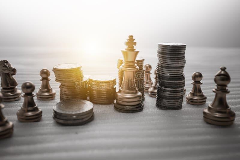 Conceito do jogo de mesa da xadrez de ideias do negócio imagem de stock