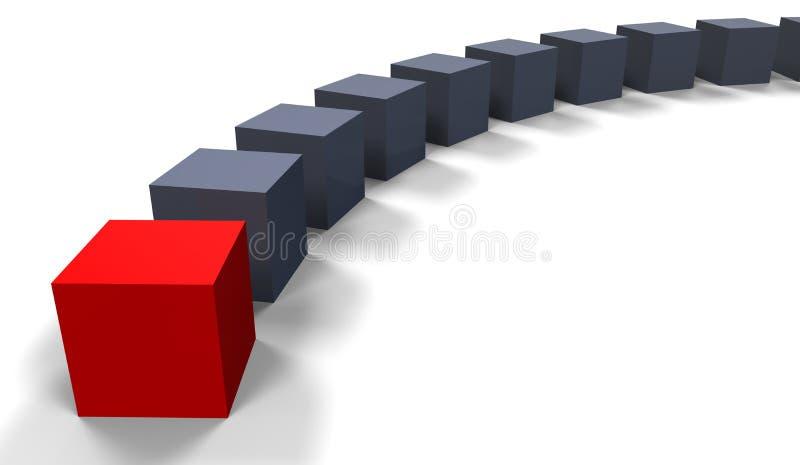 Conceito do líder ilustração stock