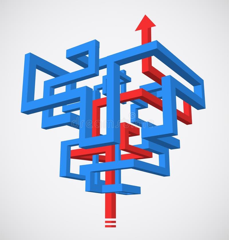 Conceito do labirinto ilustração stock