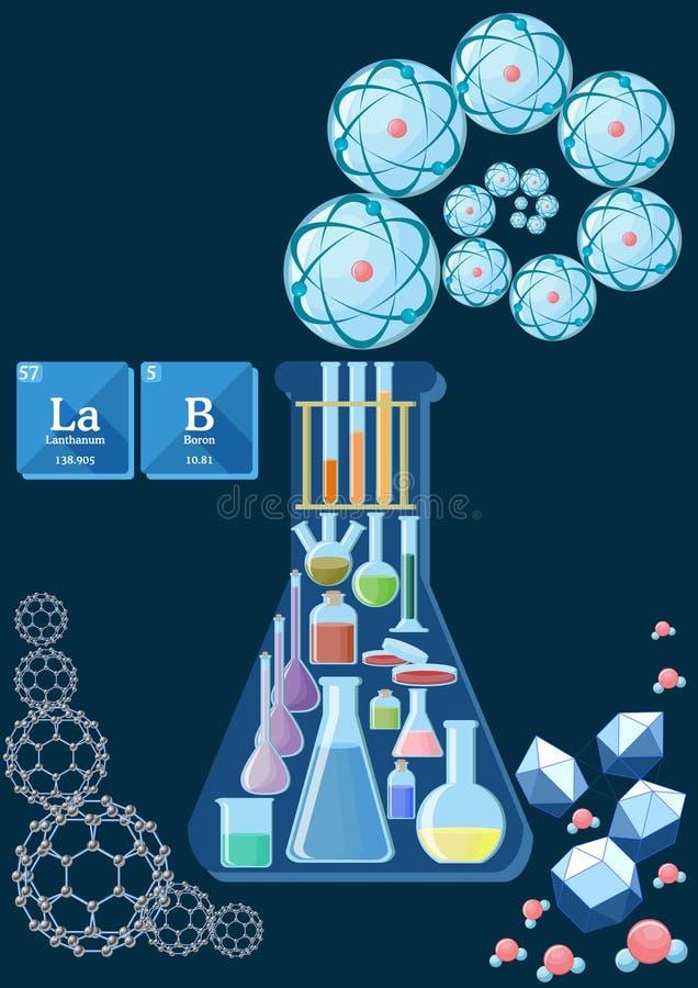 Conceito do laboratório de ciência ilustração stock