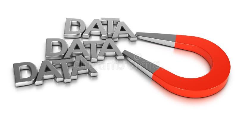 Conceito do levantamento de dados ilustração stock