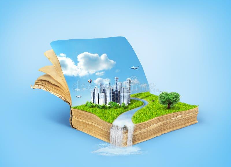 Conceito do livro mágico coberto ilustração stock