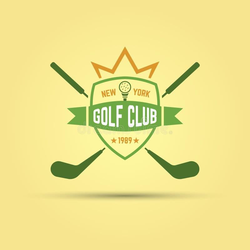 Conceito do logotipo do clube de esporte do golfe ilustração stock