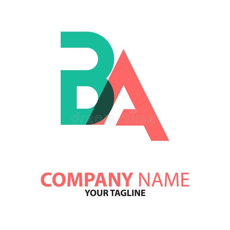 Conceito do logotipo da inicial do AB dos VAGABUNDOS ilustração do vetor
