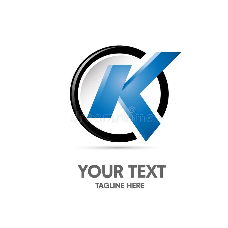 Conceito do logotipo da letra F ilustração stock