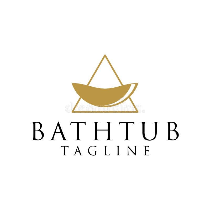 Conceito do logotipo de Bathtube ilustração do vetor