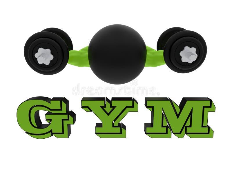 Conceito do logotipo do Gym ilustração stock