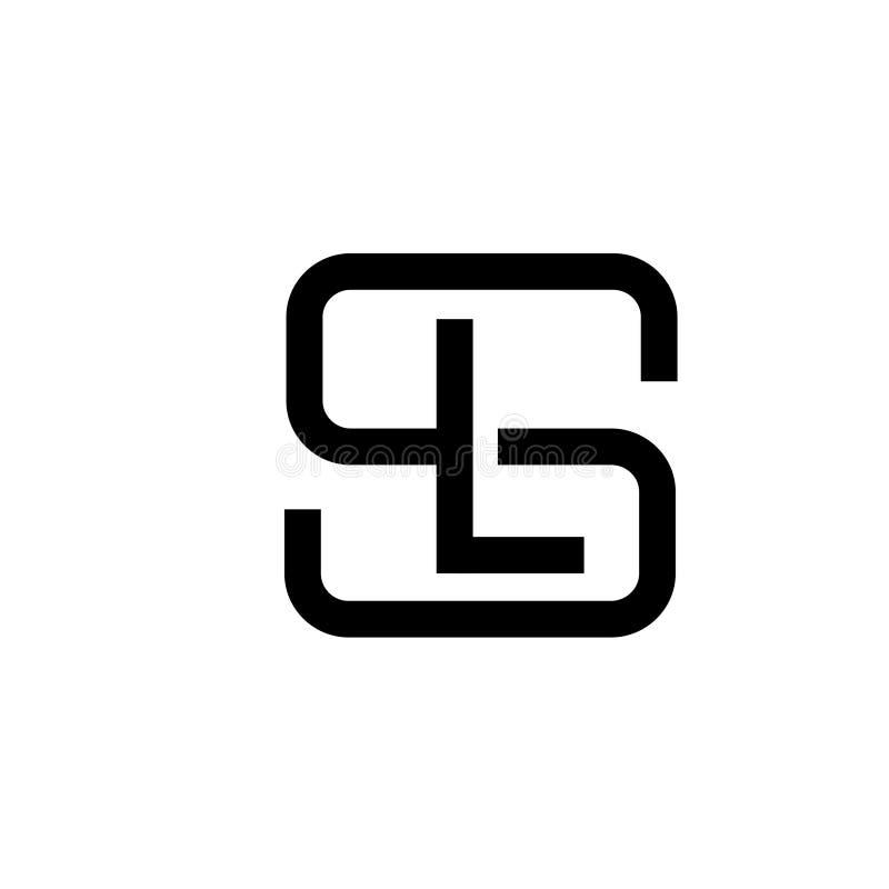 Conceito do logotipo do SL da letra ilustração royalty free
