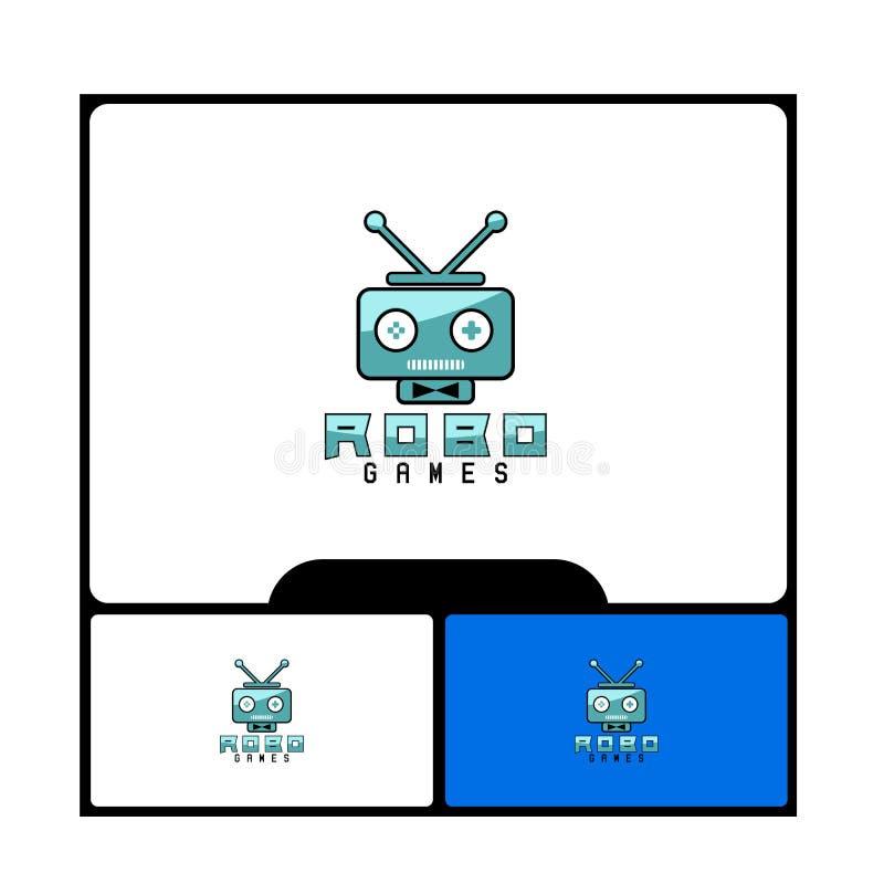 Conceito do logotipo dos jogos de Robo ilustração do vetor
