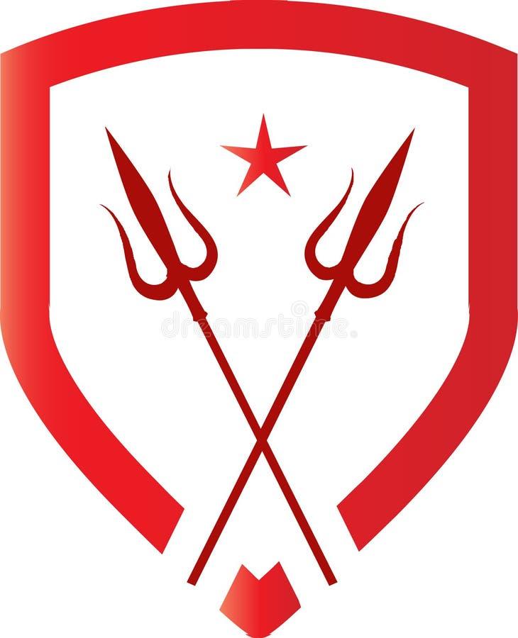 Conceito do logotipo para agências ilustração stock