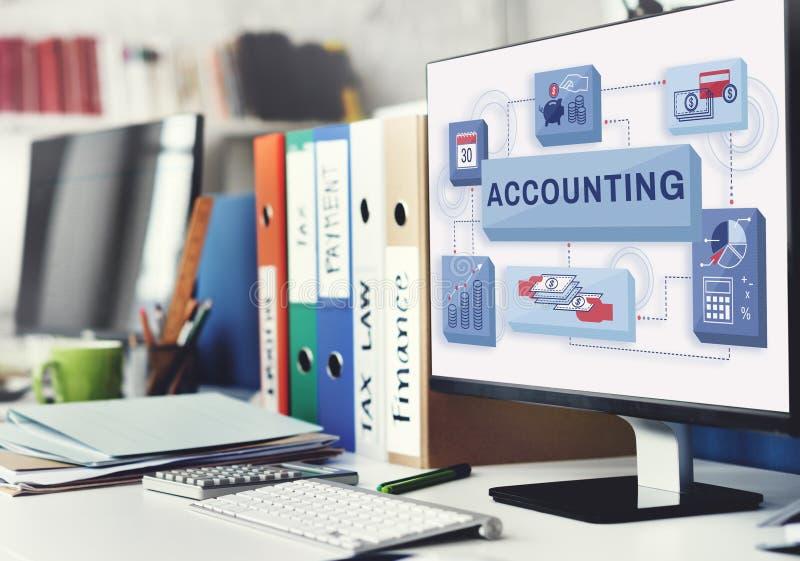 Conceito do lucro da renda da finança da operação bancária da contabilidade foto de stock