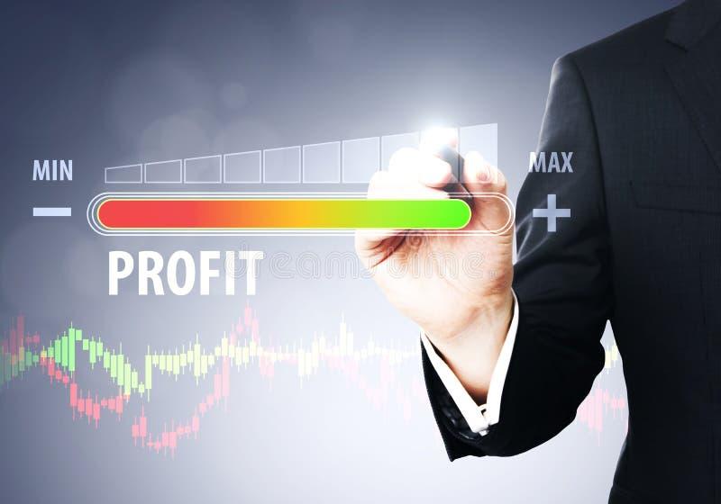 Conceito do lucro e do hud imagem de stock royalty free