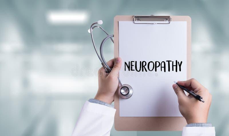 Conceito do médico da NEUROPATIA, fraseio da neuropatia em Anam fotografia de stock royalty free