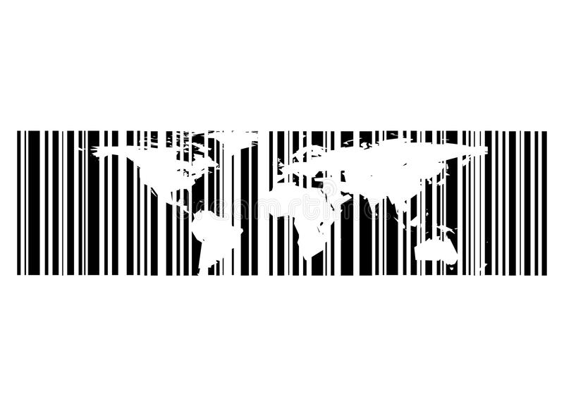 Conceito do mapa do código de barra fotos de stock