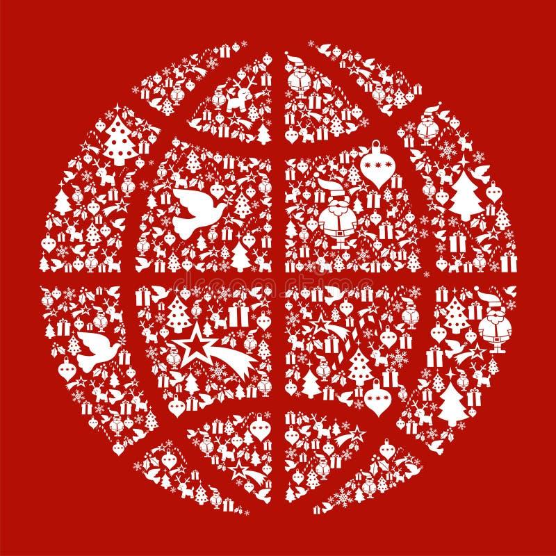 Conceito do mapa do globo do Natal ilustração do vetor