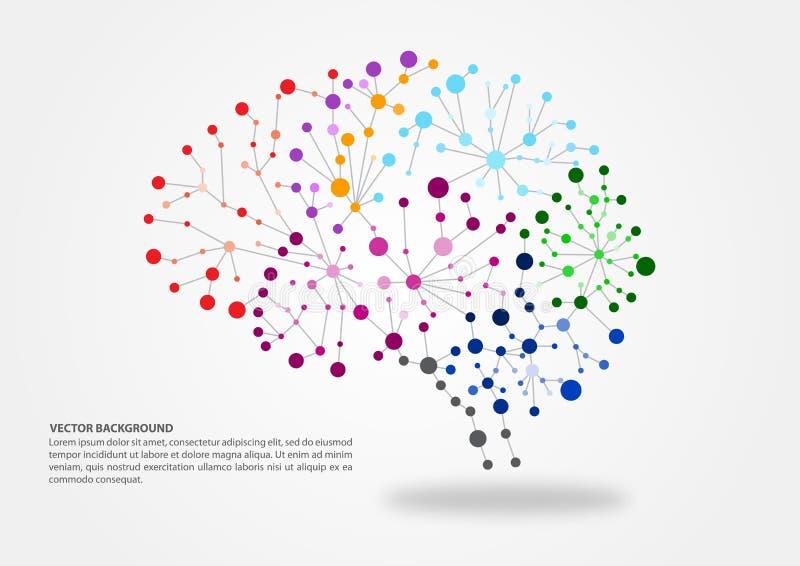 Conceito do mapeamento do cérebro ilustração royalty free