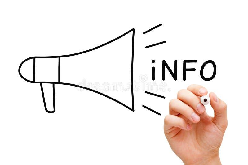 Conceito do megafone da informação imagens de stock