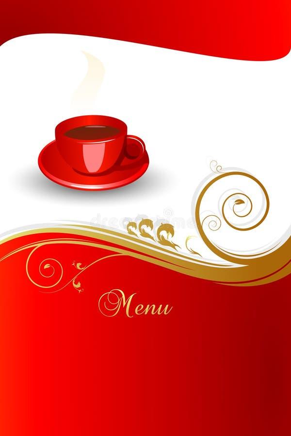 Conceito do menu do café. ilustração do vetor