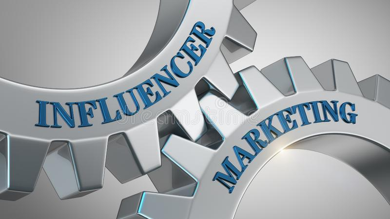Conceito do mercado de Influencer ilustração royalty free