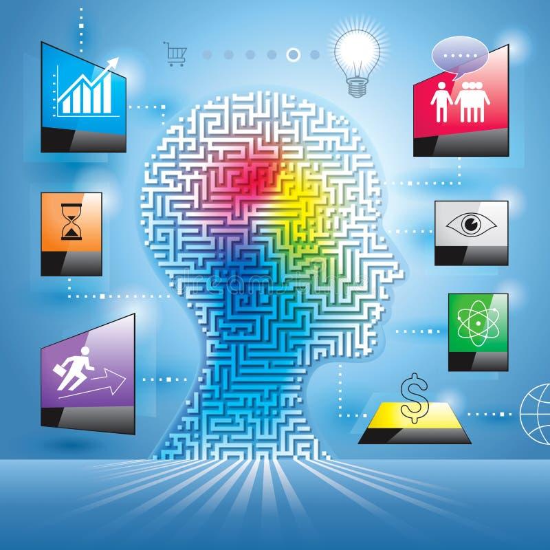 Conceito do mercado de Infographics ilustração stock