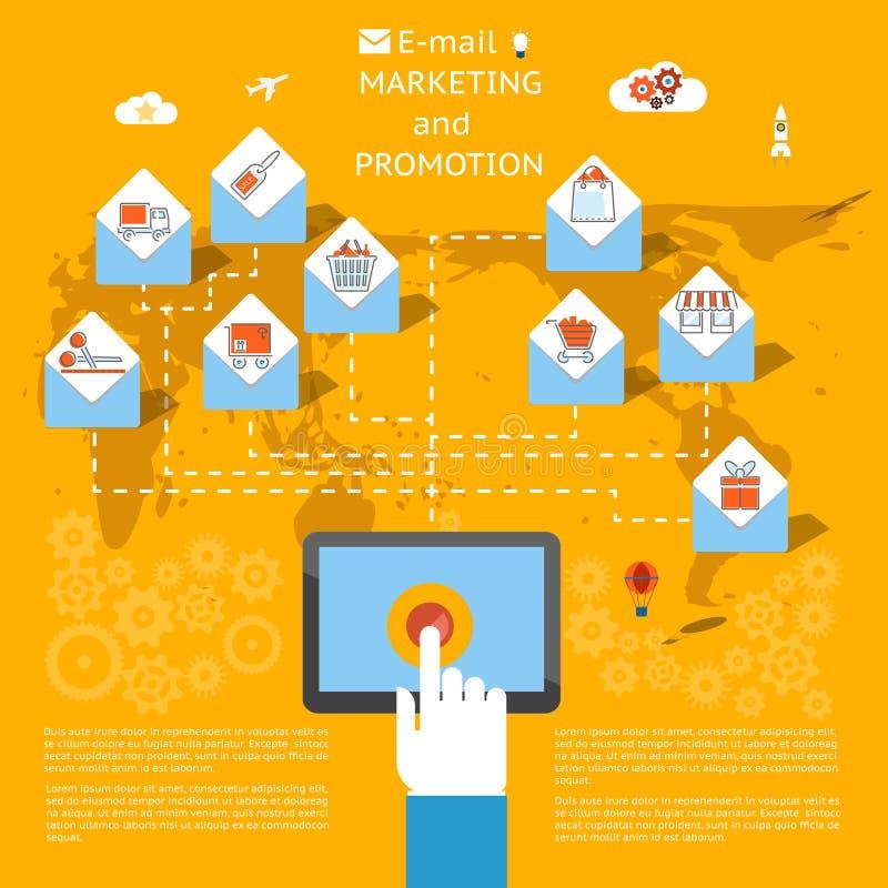 Conceito do mercado do email ilustração royalty free