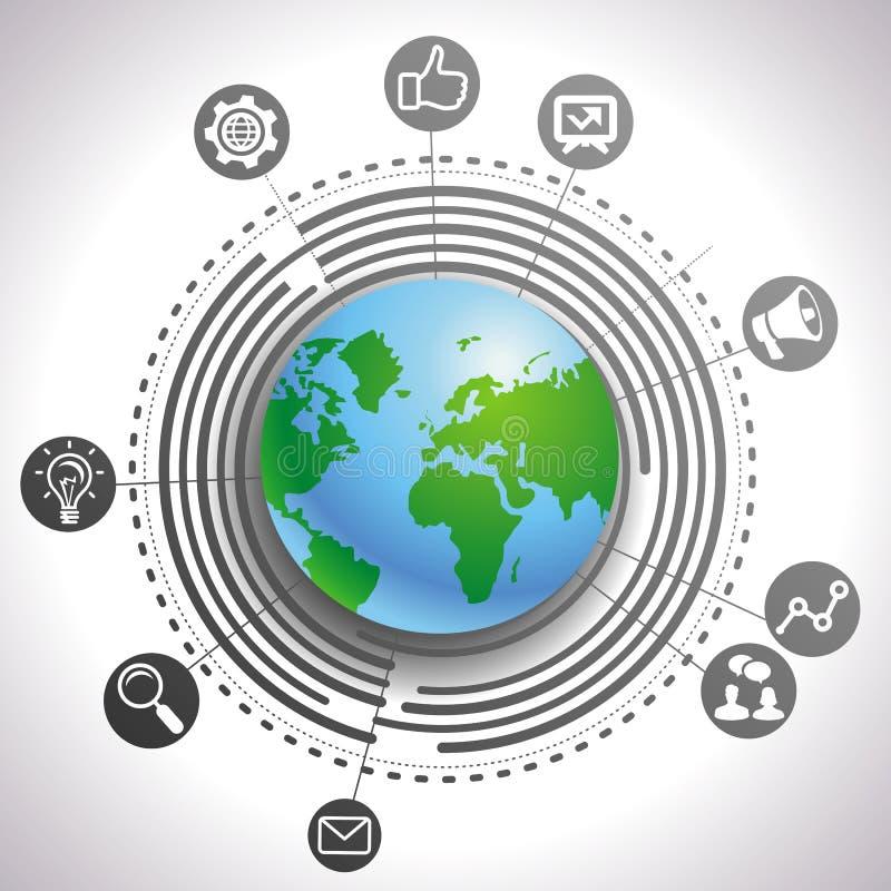 Conceito do mercado do Internet do vetor ilustração do vetor