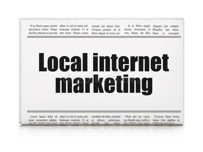 Conceito do mercado: mercado local do Internet do título de jornal ilustração royalty free