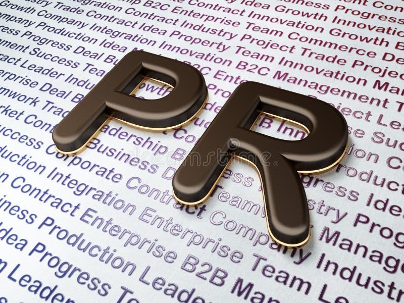 Conceito do mercado:  PR no fundo do negócio imagens de stock royalty free