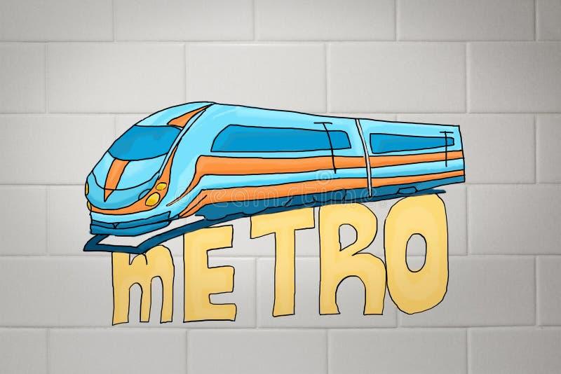 Conceito do metro ilustração royalty free