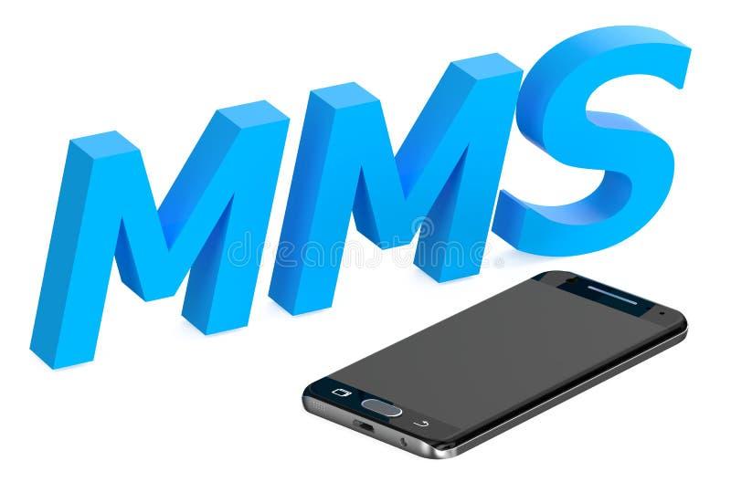 Conceito do Mms com smartphone ilustração royalty free