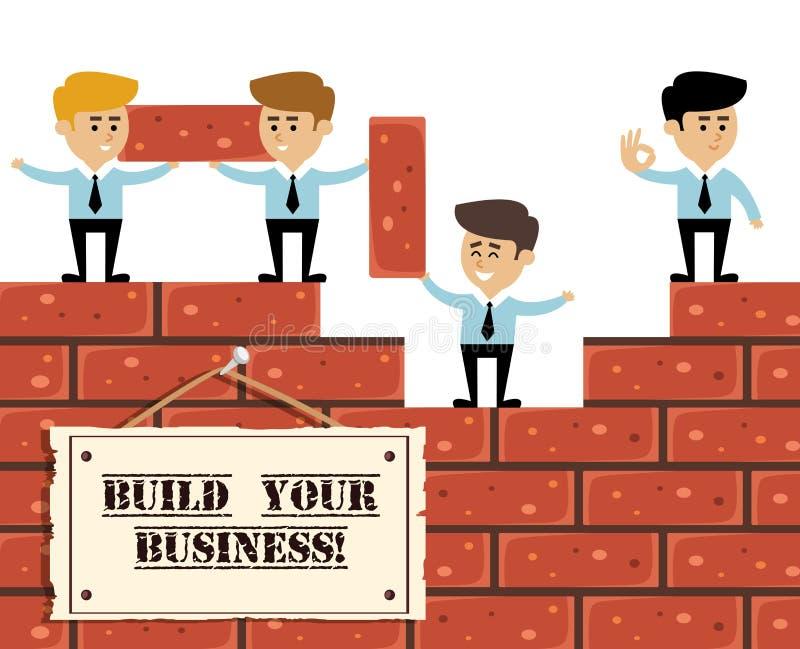 Conceito do negócio da construção ilustração royalty free