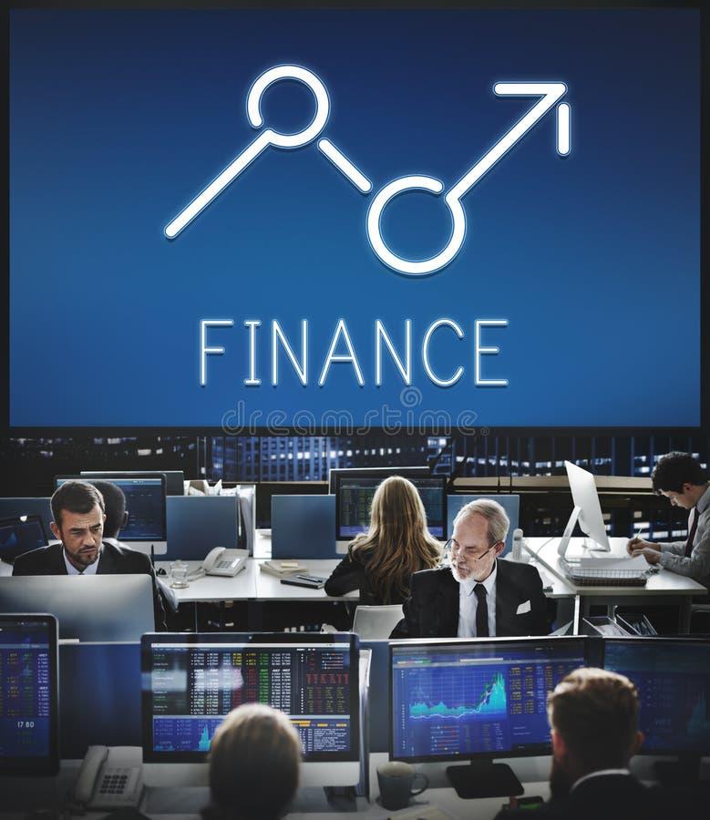 Conceito do negócio da economia das oportunidades do lucro da elevação da finança fotografia de stock royalty free
