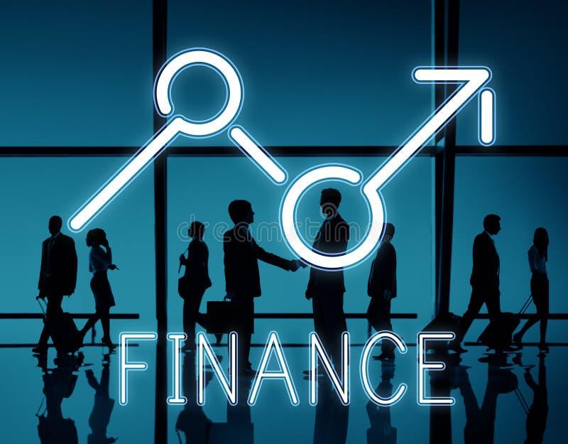 Conceito do negócio da economia das oportunidades do lucro da elevação da finança ilustração stock