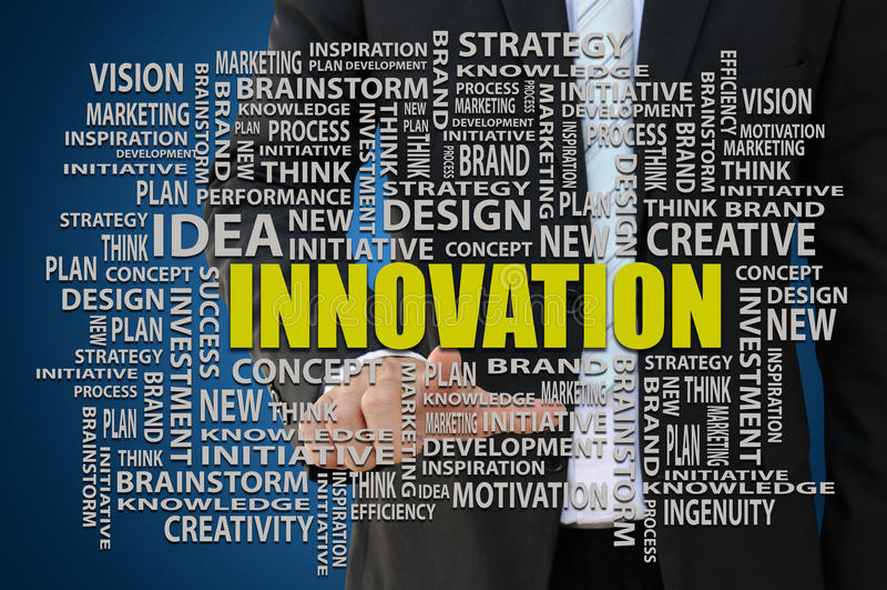 Conceito do negócio da inovação imagens de stock