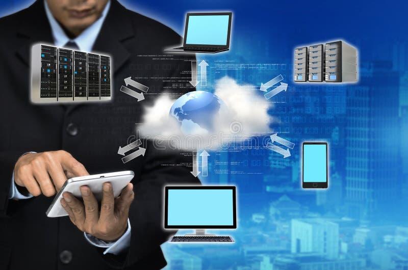 Conceito do negócio da nuvem do Internet fotos de stock royalty free