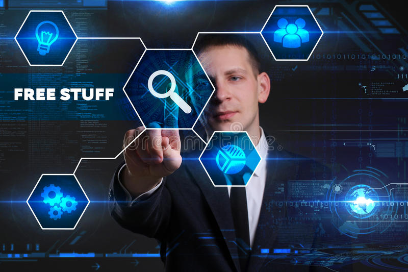 Conceito do negócio, da tecnologia, do Internet e da rede Busine novo imagens de stock