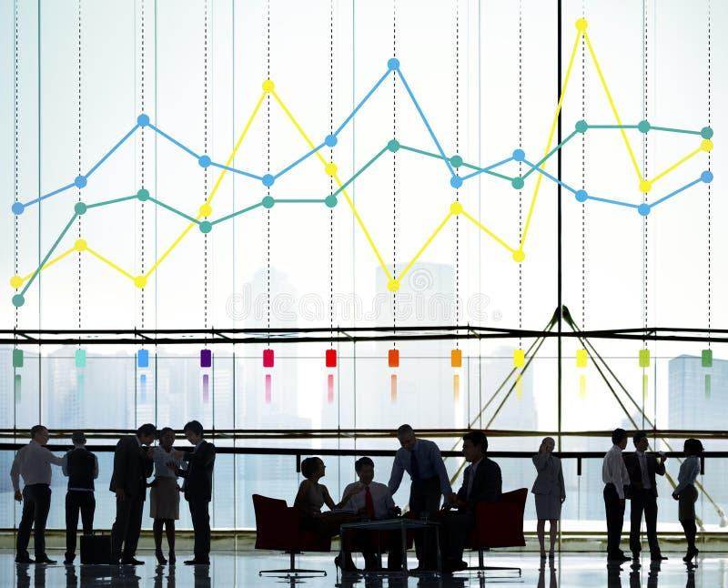 Conceito do negócio das estatísticas da contabilidade do relatório da finança fotos de stock royalty free