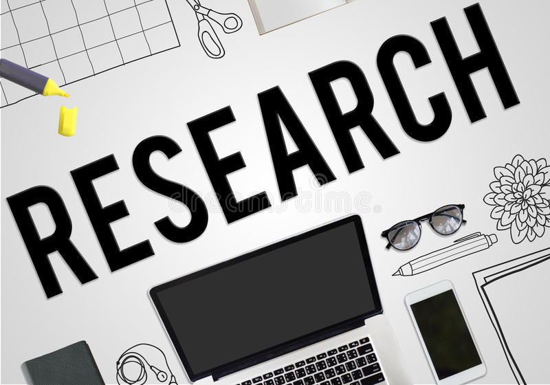 Conceito do negócio das ideias do planeamento do plano da pesquisa ilustração stock