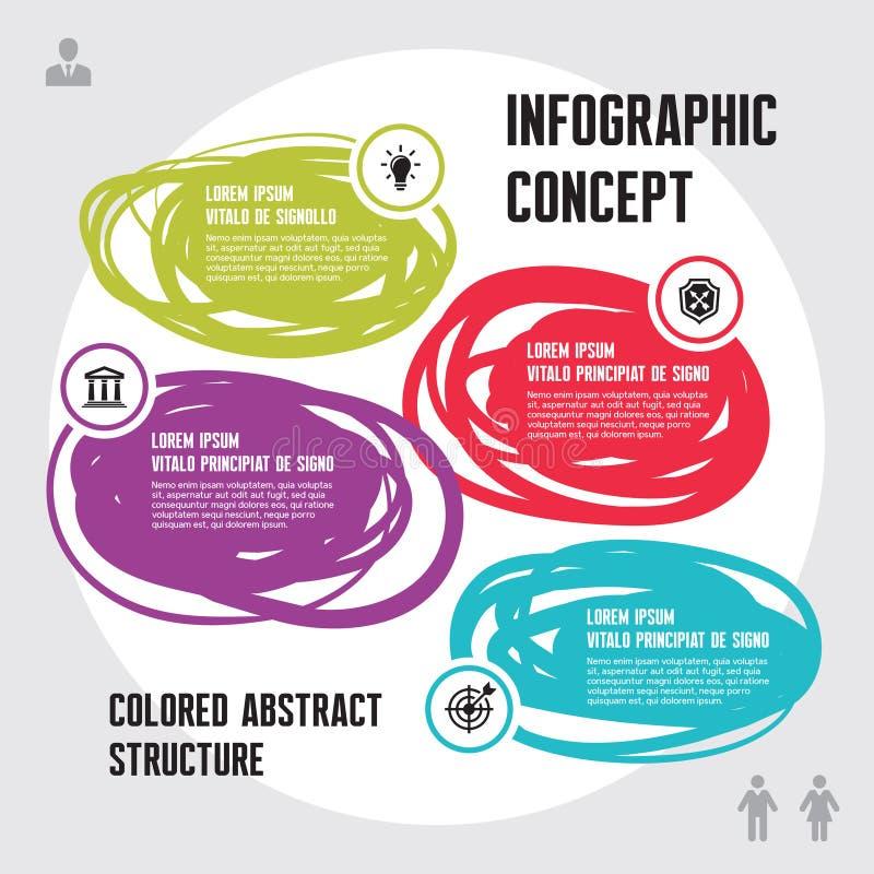 Conceito do negócio de Infographic ilustração royalty free