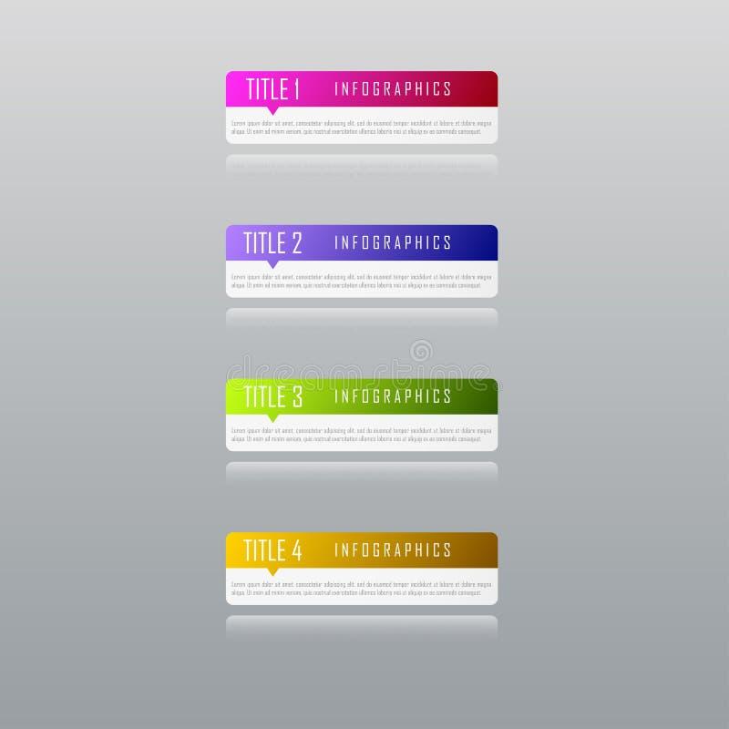 Conceito do negócio de Infographic com 4 opções, peças, etapas fotos de stock