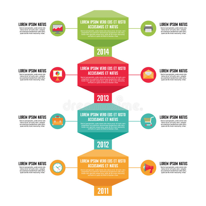 Conceito do negócio de Infographic - vertical do espaço temporal - ilustração no estilo liso do projeto ilustração do vetor