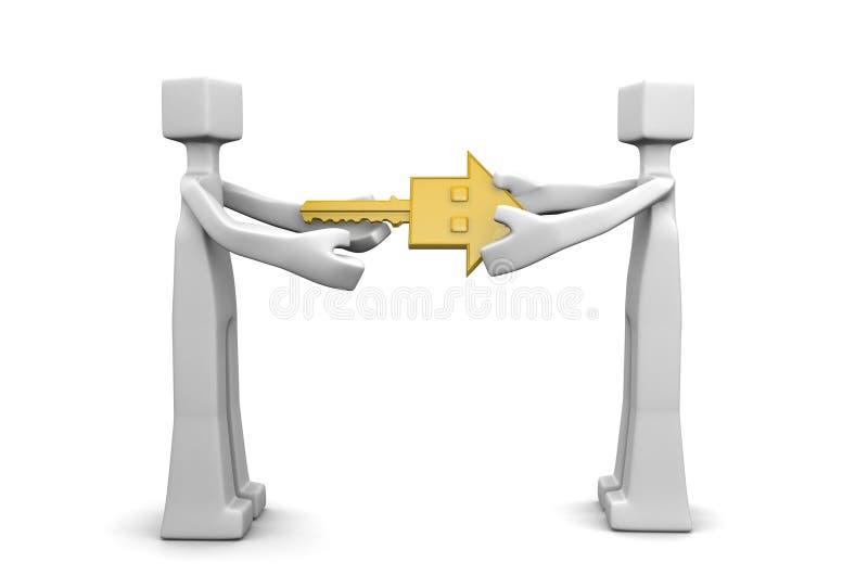 Conceito do negócio de negócio da chave da casa da passagem ilustração stock