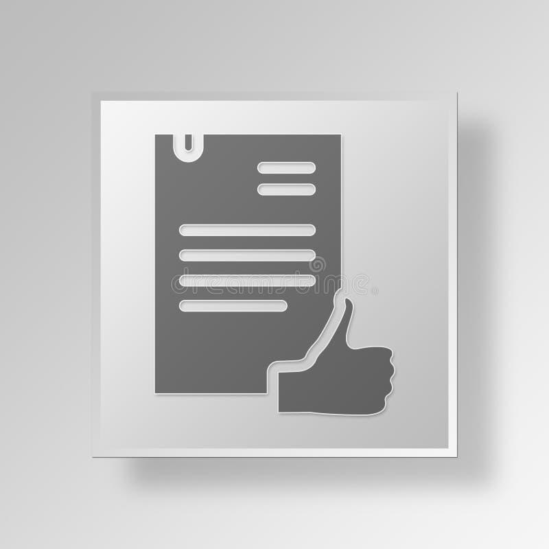 conceito do negócio do ícone da autorização 3D ilustração royalty free