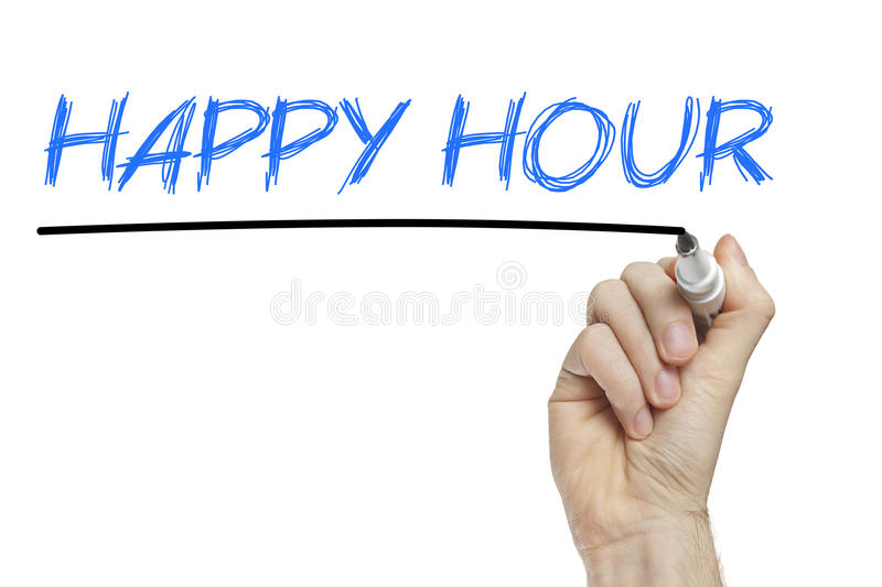 Conceito do negócio do happy hour foto de stock royalty free
