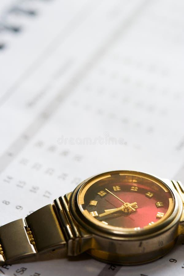 Conceito do negócio do relógio fotografia de stock