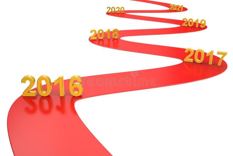 Conceito do negócio do sucesso 2016 anos, rendição 3D ilustração do vetor